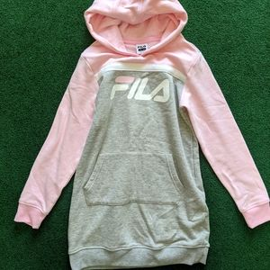Fila girls hoodie xl in gray and pink